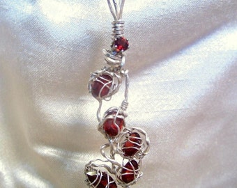 ONE OF A KIND GARNET AND STERLING SILVER PENDANT