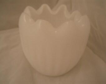 Rose Bowl Vintage Milk Glass