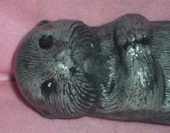 CONCRETE OTTER STATUE for Homes and Gardens and Birdbaths and Ponds