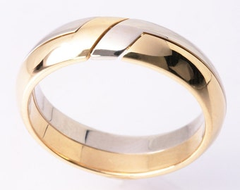 18K Gemini  3.5mm, a Gimmal  Wedding Band