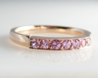 Pink Pleiades in 14K Rose Gold with Pink Sapphires