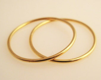 Duet , two 18K Gold 1mm bands