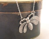 Buzzy Bee necklace in antiqued silver