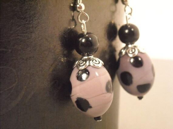 Polkadot Earrings in Purple