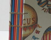 Handbound Baby Album,  Circus Hot Air Balloons