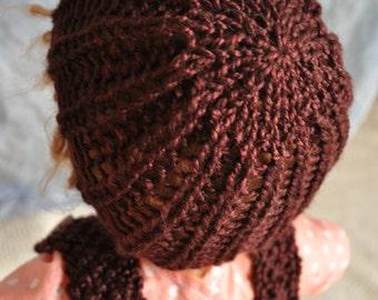 Knitting Pattern for Doll Hat  - Mushroom Cap