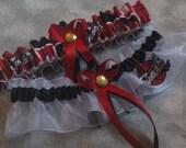 Handmade wedding garters keepsake and toss CLEVELAND CAVALIERS wedding garter set sexy