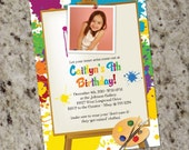 LITTLE ARTIST - Art Painting Birthday Party Invitations - Print Your Own