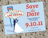 VEGAS Themed Save-the-Date cards - Print Your Own
