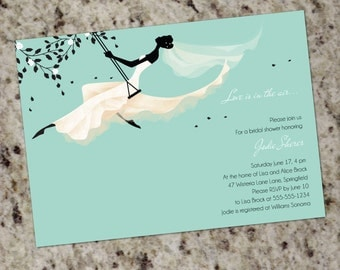 Love Is In the Air - Custom Bridal Shower Invitations - Print Your Own