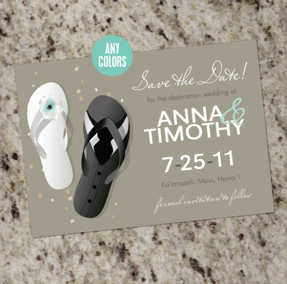 Beach Wedding Flip Flop Save The Dates Or Bridal Shower