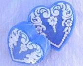 Blue Wedgewood Victorian Heart Soap