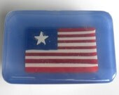 Patriotic American Flag Soap entirely made of soap