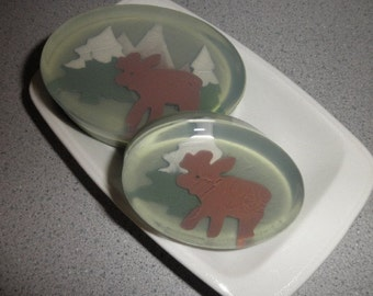 Men's Soap - Moose Woodland Soap scented in pure cedar and fir essential oils or coolwater type
