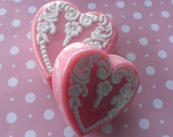 Pink Heart Soap- Small