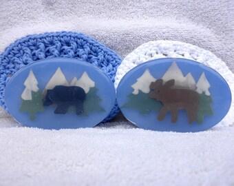 Moose and Bear Wildlife Art Soap