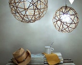 Bamboo orb pendant light - small