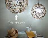 Bamboo orb pendant light - large