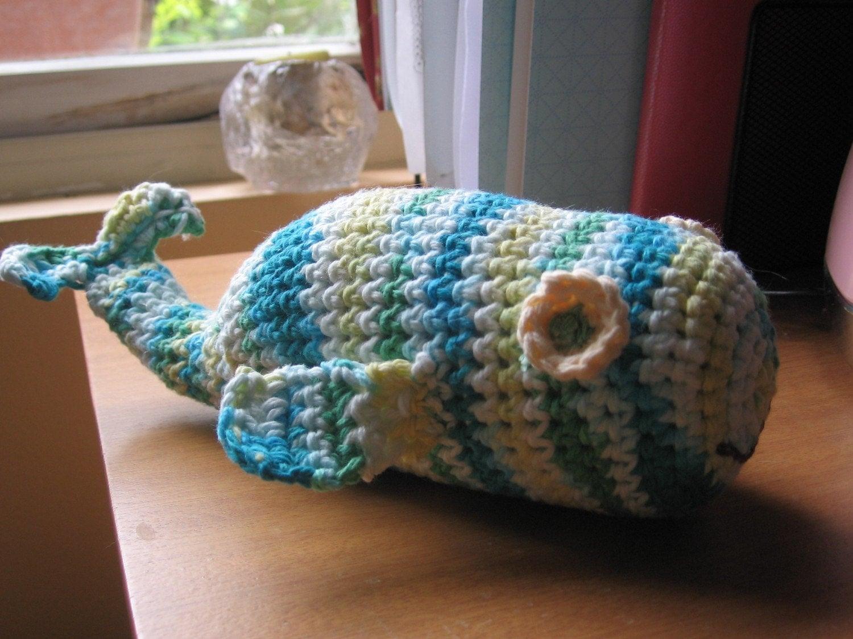 Crochet Amigurumi Blue Whale : Amigurumi Crochet Blue Sperm Whale Stuffed Animal