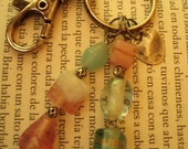 Pastel Colours Bead Keyring - Heart included