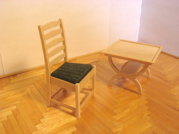 Miniature Table and Chair Set
