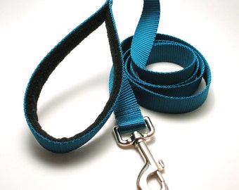 4 Foot Padded Handle Classic Solid Leash