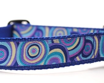 Custom Dog Collar - Bullseye in Lavender / Purple Collar / Blue Collar