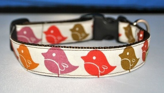 Little Birdies - Custom Dog Collar