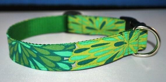 Custom Dog Collar - Green with Envy