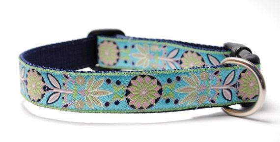 Custom Dog Collar - Marigold in Turquoise