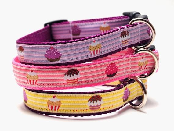 Little Cupcake Custom Dog Collar - Choose your Color