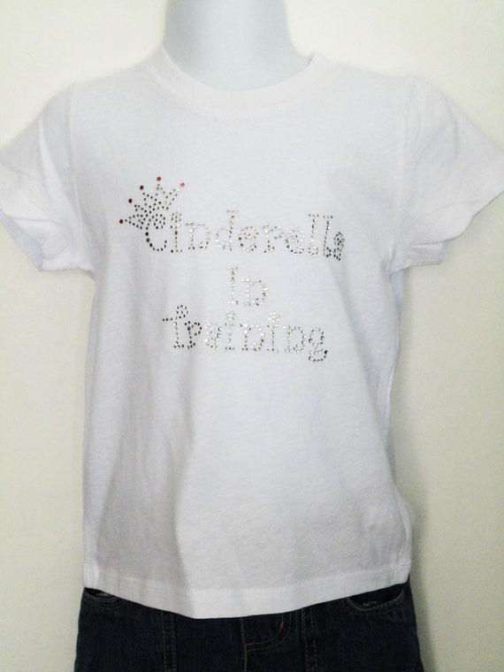 Cinderella Rhinestone T-Shirt,Cinderella in Training Design,Cinderella T-Shirts,Cinderella Shirts,Princess T-Shirts,Disney
