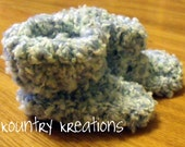 Crochet Baby Booties/Booties/Newborn Booties/ Baby Booties /SOFT Baby Blue Baby Booties - 0 to 6 months (Ready to Ship)
