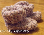 SOFT Baby Lavender  Baby Booties - 0 to 6 months (Ready to Ship)