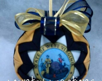 WV Handmade QUILTED ORNAMENT (Ready to Ship)