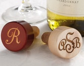 Reserved Personalized Wood Wine Stopper Engraved or Monogrammed for Christy