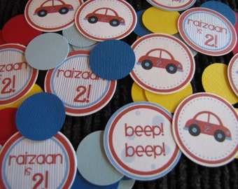 Car Birthday Decorations, Boy Birthday Decorations, Car Birthday TABLE CONFETTI, You Choose The Colors