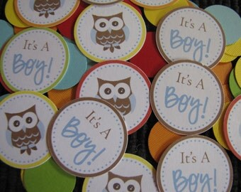 Owl Baby Shower Decorations, Table Confetti, Baby Shower Decorations, Customized