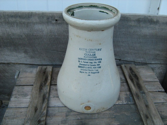 early 1900s vintage XXTH CENTURY  Cordley & Hays Ny. stoneware water cooler
