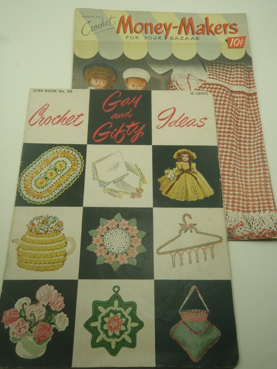 Two Crochet Gift Pattern Booklets How to