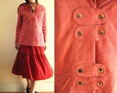 Mad for Mod Pink Suede Snap Closure Coat
