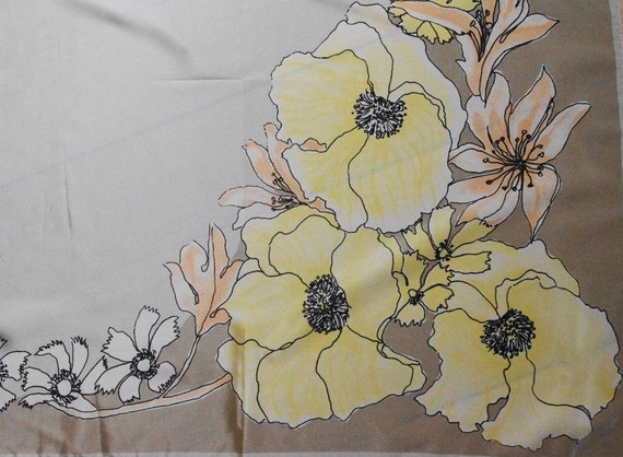 Soft and Lovely Art Nouveau Inspired Vera Floral Scarf