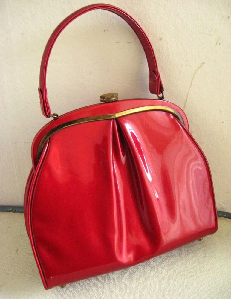 Alluring 1950 S Vinyl Handbag The Bomb