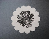 Round Damask Stickers - RESERVED
