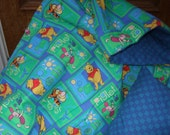 Pooh Blanket with Checkered Pillow