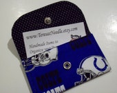 Small Card Keeper - Great for Gift Cards, Credit Cards, I.D., Insurance Cards, Reward Cards, Business Cards - Indianapolis Colts