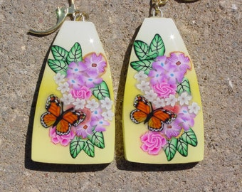 Matching Yellow Floral Earrings