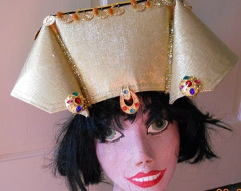 Head piece Biblical Egyptian ethnic Pharaoh crown hat King Queen Custom