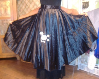 Poodle circle skirt 50s bop girls adult women small Costume production sale