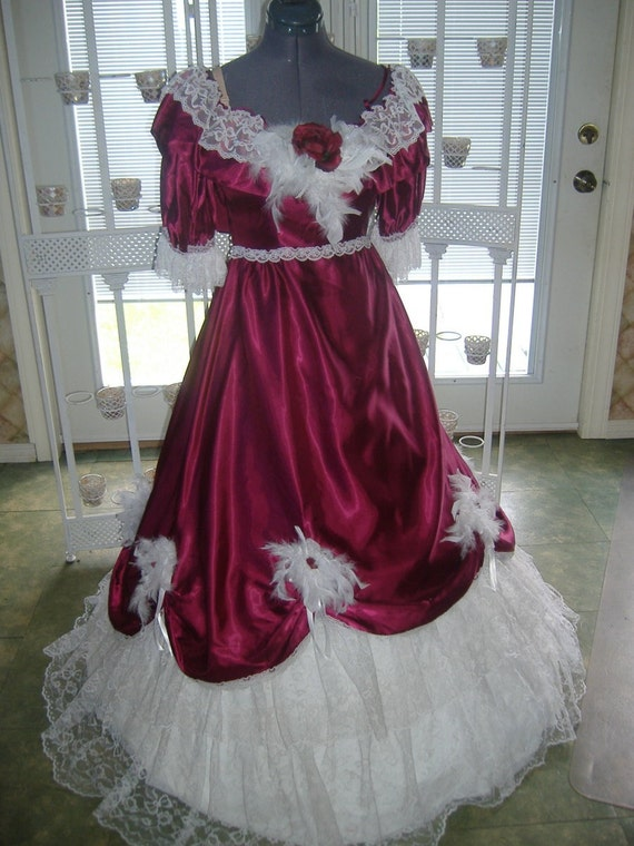 Civil War Victorian Dress Gown Dickens Christmas Masquerade